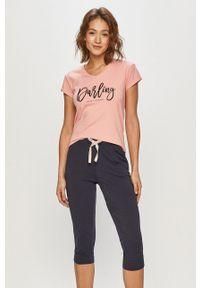 Henderson Ladies - Piżama. Kolor: różowy. Długość: krótkie. Wzór: nadruk