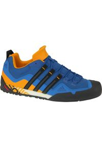 Niebieskie buty sportowe Adidas Adidas Terrex, z cholewką, w kolorowe wzory