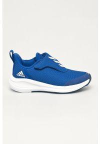 Niebieskie buty sportowe adidas Performance z cholewką, na rzepy, Adidas Cloudfoam