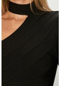 Czarna sukienka Marciano Guess mini, z długim rękawem, casualowa