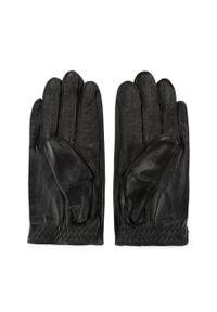 Czarne rękawiczki Wittchen z aplikacjami, eleganckie