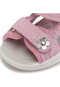 Różowe sandały Superfit na lato, z aplikacjami