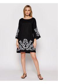 Czarna sukienka Iconique casualowa, prosta, na co dzień