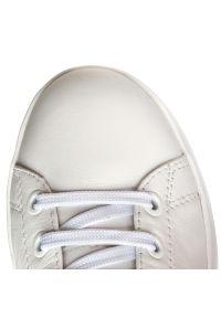 Białe półbuty Geox casualowe, z cholewką, na co dzień, na sznurówki #7