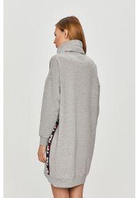 Szara piżama Fila długa, z nadrukiem