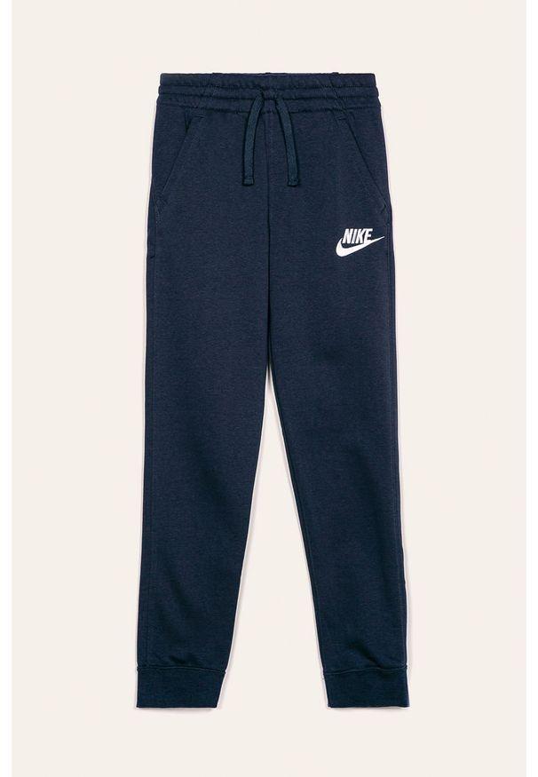 Niebieskie spodnie dresowe Nike Kids