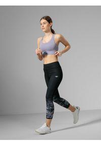 Czarne legginsy sportowe 4f do biegania, z podwyższonym stanem