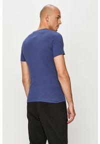 Niebieski t-shirt s.Oliver na co dzień, z aplikacjami