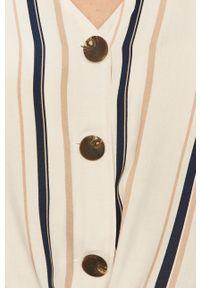 Biała koszula Haily's krótka, casualowa, na co dzień
