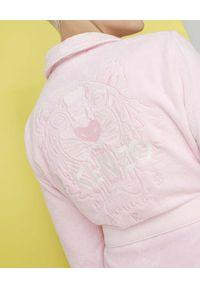 KENZO HOME - Szlafrok z tygrysem Iconic. Kolor: wielokolorowy, różowy, fioletowy. Materiał: bawełna. Wzór: haft