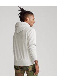 Ralph Lauren - RALPH LAUREN - Szara bluza z kapturem. Typ kołnierza: kaptur. Kolor: szary. Materiał: dresówka, jeans, bawełna. Długość rękawa: długi rękaw. Długość: długie. Wzór: haft