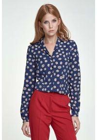 Bluzka koszulowa Nife długa, z długim rękawem, elegancka