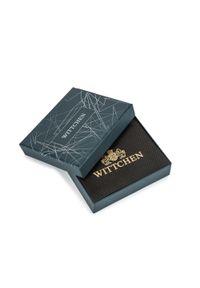 Wittchen - Męski portfel skórzany z rozcięciem. Kolor: czarny, wielokolorowy, niebieski. Materiał: skóra. Wzór: kolorowy