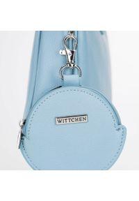 Wittchen - Torebka na ramię z doczepianą saszetką. Kolor: niebieski. Dodatki: z breloczkiem. Materiał: skórzane. Styl: klasyczny. Rodzaj torebki: na ramię #4