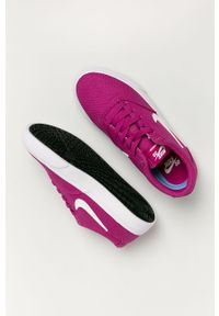 Różowe buty sportowe Nike Sportswear na sznurówki, z okrągłym noskiem, z cholewką