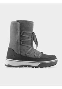Szare buty zimowe 4f z cholewką, na zimę