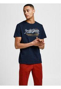 Jack&Jones PREMIUM T-Shirt Rblustar 12191688 Granatowy Regular Fit. Kolor: niebieski