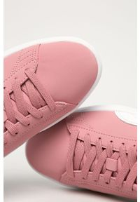 Różowe buty sportowe Puma z cholewką, z okrągłym noskiem, na sznurówki