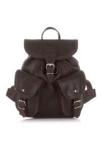 Skórzany plecak damski vintage c.brązowy PAOLO PERUZZI S-11-LB. Kolor: brązowy. Materiał: skóra. Styl: vintage