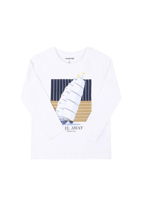 Biała koszulka z długim rękawem Mayoral