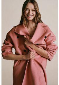 Różowy płaszcz mango bez kaptura, klasyczny