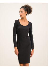 Czarna sukienka koktajlowa Cavalli Class wizytowa
