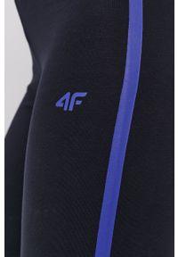 4f - 4F - Legginsy. Kolor: niebieski. Materiał: dzianina. Wzór: nadruk