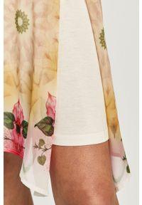 Biała sukienka Desigual casualowa, w kwiaty, bez rękawów, prosta