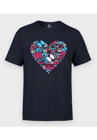MegaKoszulki - Koszulka męska Muzyczne Serce. Materiał: bawełna