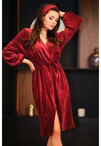 Czerwona sukienka Awama kopertowa