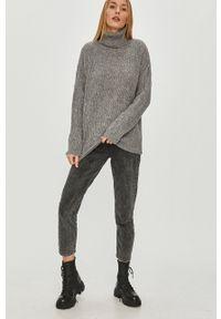 Szary sweter Answear Lab długi, z długim rękawem