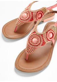 Czerwone sandały bonprix z paskami