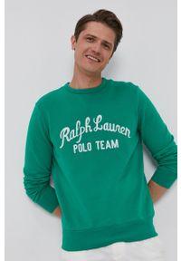 Polo Ralph Lauren - Bluza. Okazja: na co dzień. Typ kołnierza: polo. Kolor: zielony. Wzór: aplikacja. Styl: casual