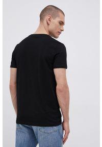 Jack & Jones - T-shirt bawełniany. Okazja: na co dzień. Kolor: czarny. Materiał: bawełna. Wzór: nadruk. Styl: casual