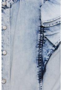 TALLY WEIJL - Tally Weijl - Koszula jeansowa. Okazja: na co dzień. Typ kołnierza: kołnierzyk stójkowy. Kolor: niebieski. Materiał: jeans. Długość rękawa: długi rękaw. Długość: długie. Styl: casual