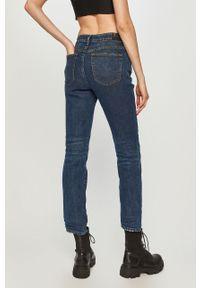 Niebieskie proste jeansy Diesel z podwyższonym stanem