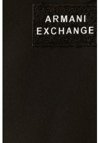 Czarna sukienka Armani Exchange asymetryczna, midi, na ramiączkach, na co dzień