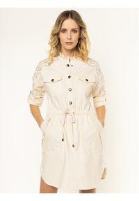 Beżowa sukienka koszulowa TwinSet