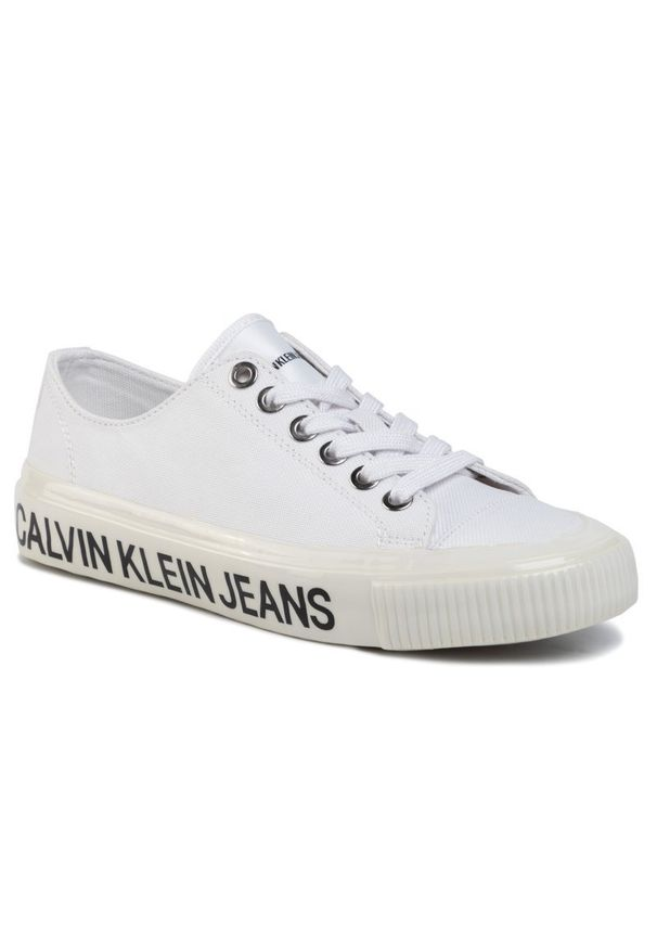 Białe trampki Calvin Klein Jeans