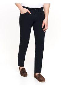 Niebieskie spodnie TOP SECRET w kolorowe wzory, na co dzień, długie, casualowe