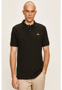 Czarna koszulka polo Lacoste polo, krótka, casualowa