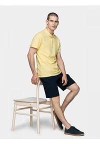 Żółta koszulka polo outhorn z krótkim rękawem, polo