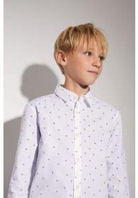 Biała koszula Mango Kids elegancka, długa, na co dzień, z długim rękawem