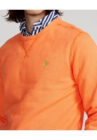 Ralph Lauren - RALPH LAUREN - Pomarańczowa bluza Cabin. Okazja: na co dzień. Typ kołnierza: bez kaptura, polo. Kolor: pomarańczowy. Materiał: tkanina, polar. Wzór: haft. Styl: casual