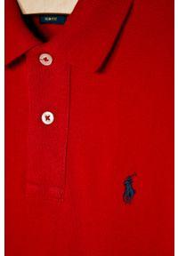 Czerwony t-shirt polo Polo Ralph Lauren polo, krótki