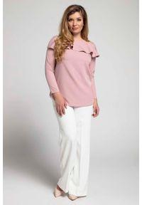 Różowa bluzka z długim rękawem Nommo plus size