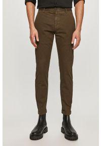 Zielone spodnie Hugo gładkie
