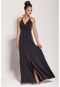 Czarna sukienka na imprezę Dursi maxi, elegancka