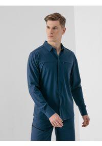 Niebieska koszulka z długim rękawem 4f