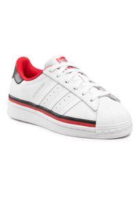 Adidas - Buty adidas - Superstar J FX5892 Ftwwht/Ftwwht/Cblack. Zapięcie: pasek. Kolor: biały. Materiał: skóra. Szerokość cholewki: normalna. Styl: młodzieżowy